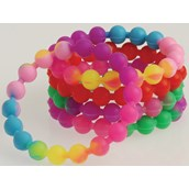 Neon Silicone Bead Bracelet (12)