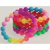 Neon Silicone Bead Bracelets (12)