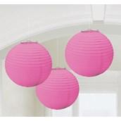 New Pink Round Paper Lanterns (3)