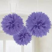 "New Purple 16"" Fluffy Decorations (3)"