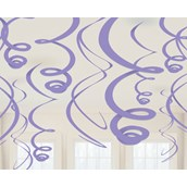 New Purple Plastic Swirl Decorations
