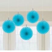 Ocean Blue Mini Hanging Fan Decoration