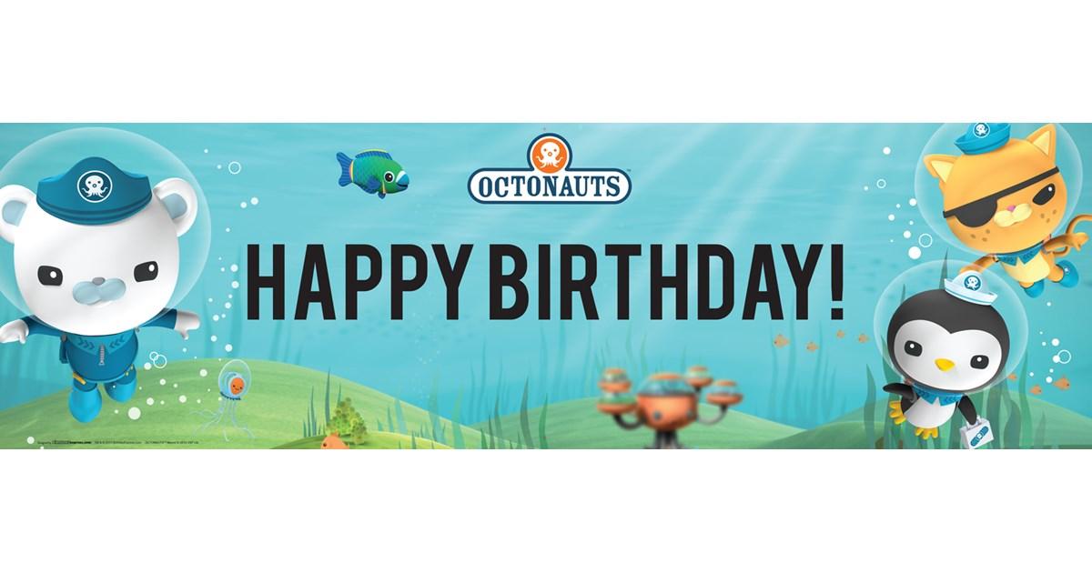 Octonauts Birthday Banner | BirthdayExpress.com