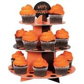 Orange and Black Dot Cupcake Stand