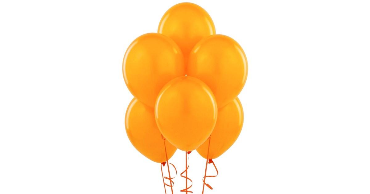orange matte balloons  6