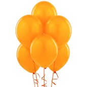 Orange Matte Balloons (6)