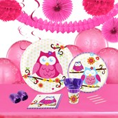 Owl Blossom 16 Guest Tableware & Deco Kit