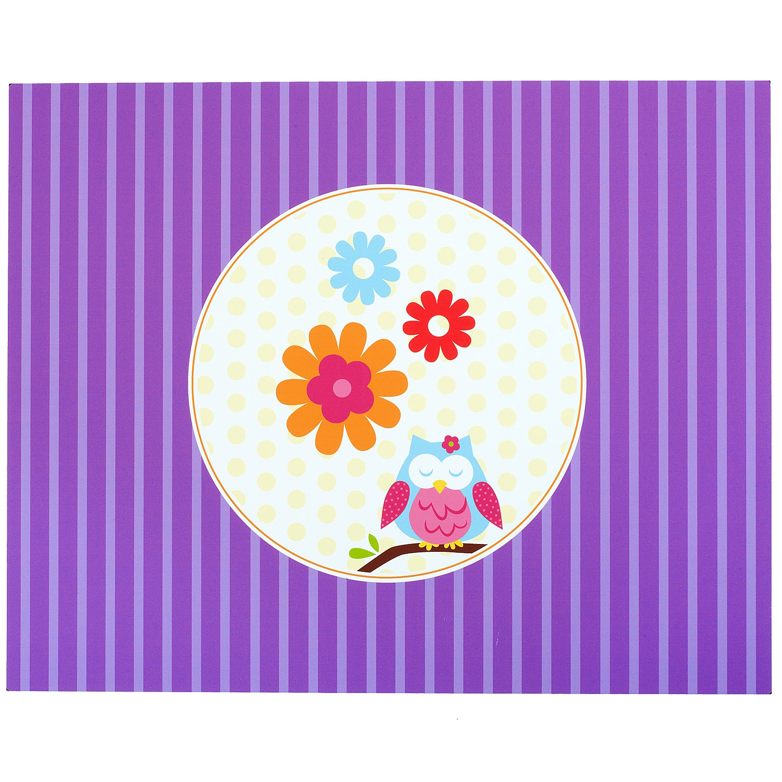 Owl Blossom Activity Placemats kids birthday partyware