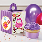 Owl Blossom Cupcake Boxes