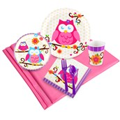 Owl Blossom 24 Guest Party Pack