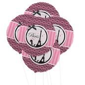 Paris Damask 5pc Foil Balloon Kit