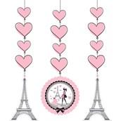 """Paris Party 36"""" Hanging Decorations (3)"""
