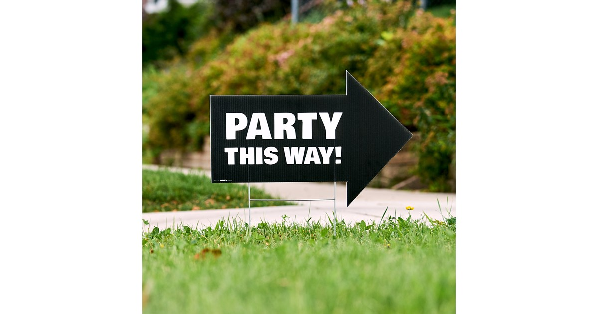 Party This Way Yard Sign | BirthdayExpress.com