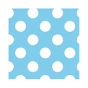 Pastel Blue and White Dot Beverage Napkins