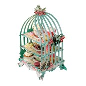 Pastries & Pearls Three Tiered Birdcage Cupcake Stand