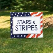 Patriotic Yard Sign