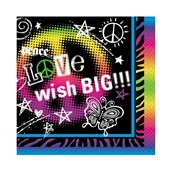 Peace Sign Party Beverage Napkins (16)