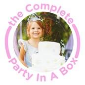 Pink and White Chevron Design Your Own Party in a Box