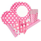 Pink and White Dots Party Pack (16)