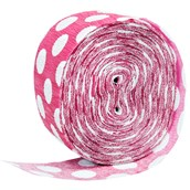 Pink & White Polka Dot Crepe Paper
