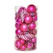 Pink Assorted Ornament Set (48)