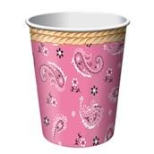 Pink Bandana 9 Oz Cups (8)