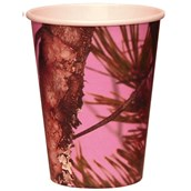 Pink Camo 12 Oz. Paper Cups (8)