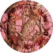 Pink Camo Dinner Plates (8)