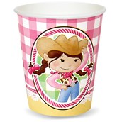 Pink Cowgirl 9 oz. Paper Cups (8)