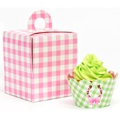 Pink Cowgirl Cupcake Wrapper & Box Kit