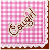 Pink Cowgirl Lunch Napkins (16)