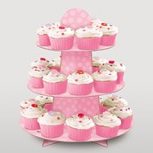 Pink Cupcake Stand (Each)