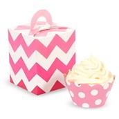 Pink! Cupcake Wrapper & Box Kit