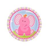 Pink Elephants Dessert Plates