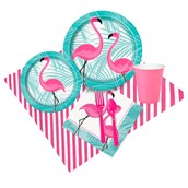 Pink Flamingo Party 24 Guest Party Pack