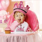 Pink High Chair Cover