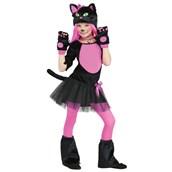 Pink Kitty Girls Costume