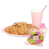 Pink Mod Monkey Cookie Favor Kit