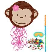 Pink Mod Monkey Pinata Kit