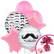 Pink Mustache Balloon Bouquet