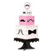 Pink Mustache Centerpiece