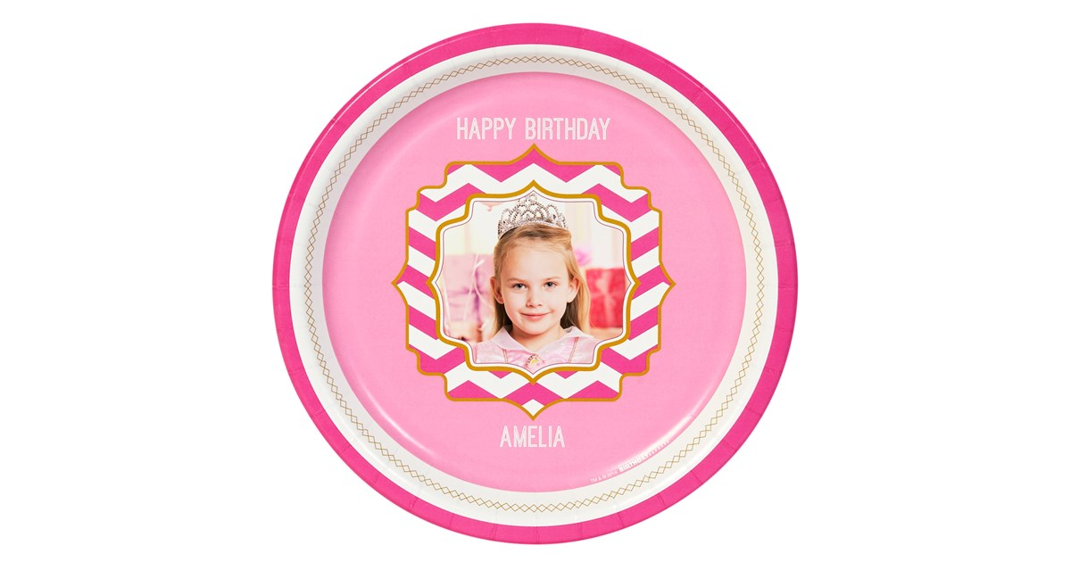 Pink Personalized Dinner Plates 8