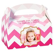 Pink! Personalized Empty Favor Boxes (8)