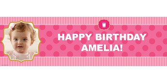 Pink! Personalized Photo Vinyl Banner