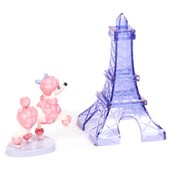 Pink Poodle in Paris Cake Toppers (2 Pieces)