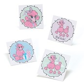 Pink Poodle in Paris Tattoos