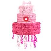 Pink! Pull-String Pinata with Ribbon