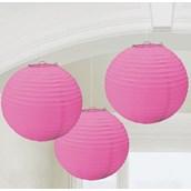 Pink Round Paper Lanterns (3)