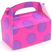 Pink with Purple Big Dots Empty Favor Boxes