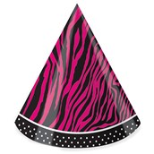 Pink Zebra Boutique Cone Hats